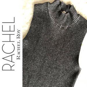 Rachel Roy Turtleneck Sleeveless Crop Sweater